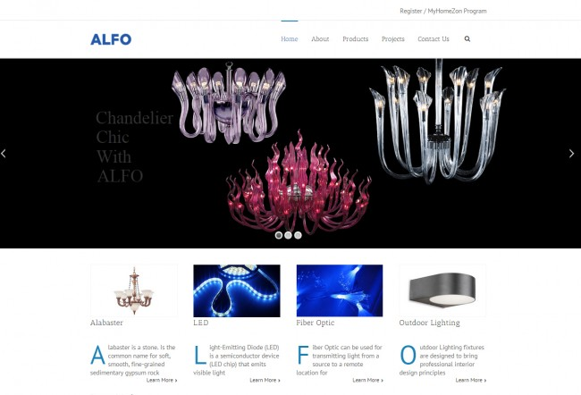 Lighting website
