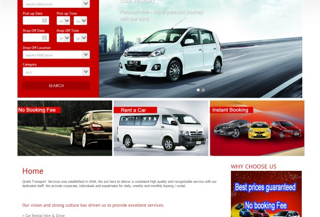 Real Time Car Rental Booking System